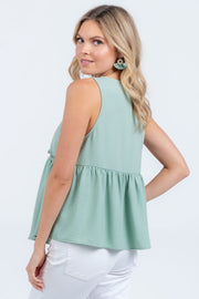 ADORE YOU CORAL SMOCKED TANK TOP