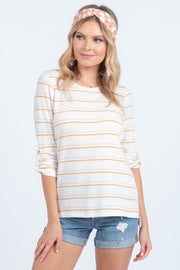 ALL SMILES STRIPED TOP