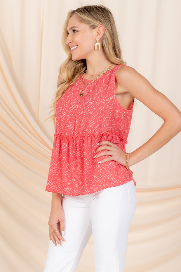 ROAD TO SUCCESS RUFFLE TIERED TANK