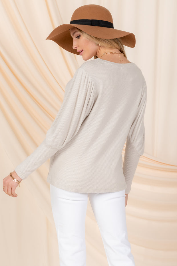 SWEET ADMIRER PUFF SLEEVE TOP