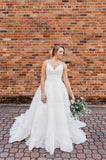 Alluring A Line Sweetheart Spaghetti Straps Lace Wedding Dresses 2020