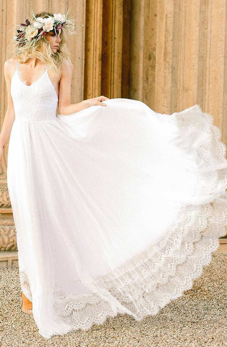 2020 Cheap A Line Lace Halter Floor Length Beach Wedding Dresses