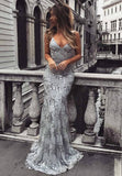 Sexy Backless Sweetheart Sequined Tulle Mermaid Bandage Prom Dress