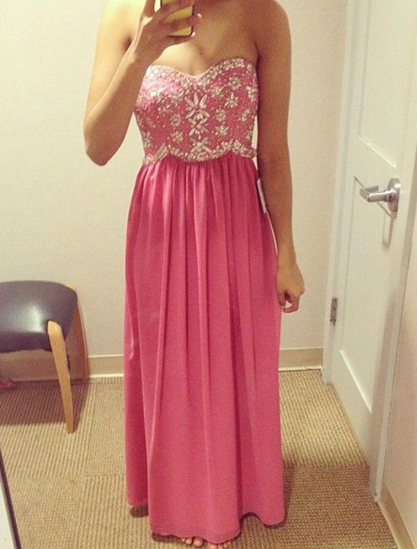 Princess/A-Line Chiffon Water Melon Prom Dresses