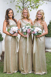 One Shoulder Sequence 2020 Long Bridesmaid Dresses