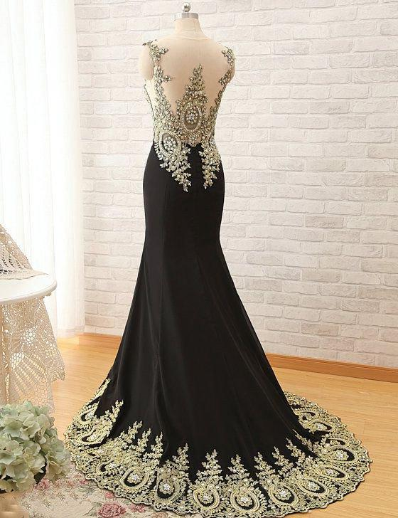2020 Junoesque Black Cheap Prom Dresses Floor-Length/Long Mermaid/Trumpet Stretch Satin