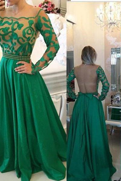 Floor-Length/Long A-Line/Princess Square Satin Pearl Detailing ?Prom Dresses
