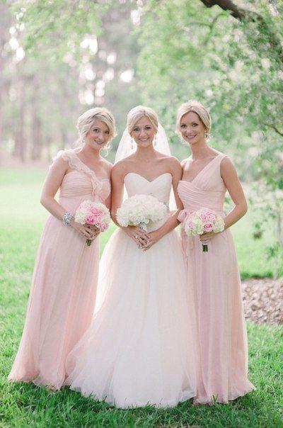 Cheap Chiffon A Line Pearl Pink 2020 Bridesmaid Dresses