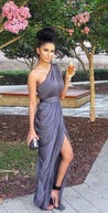 Grey prom dress , fashion bridesmaid dress
