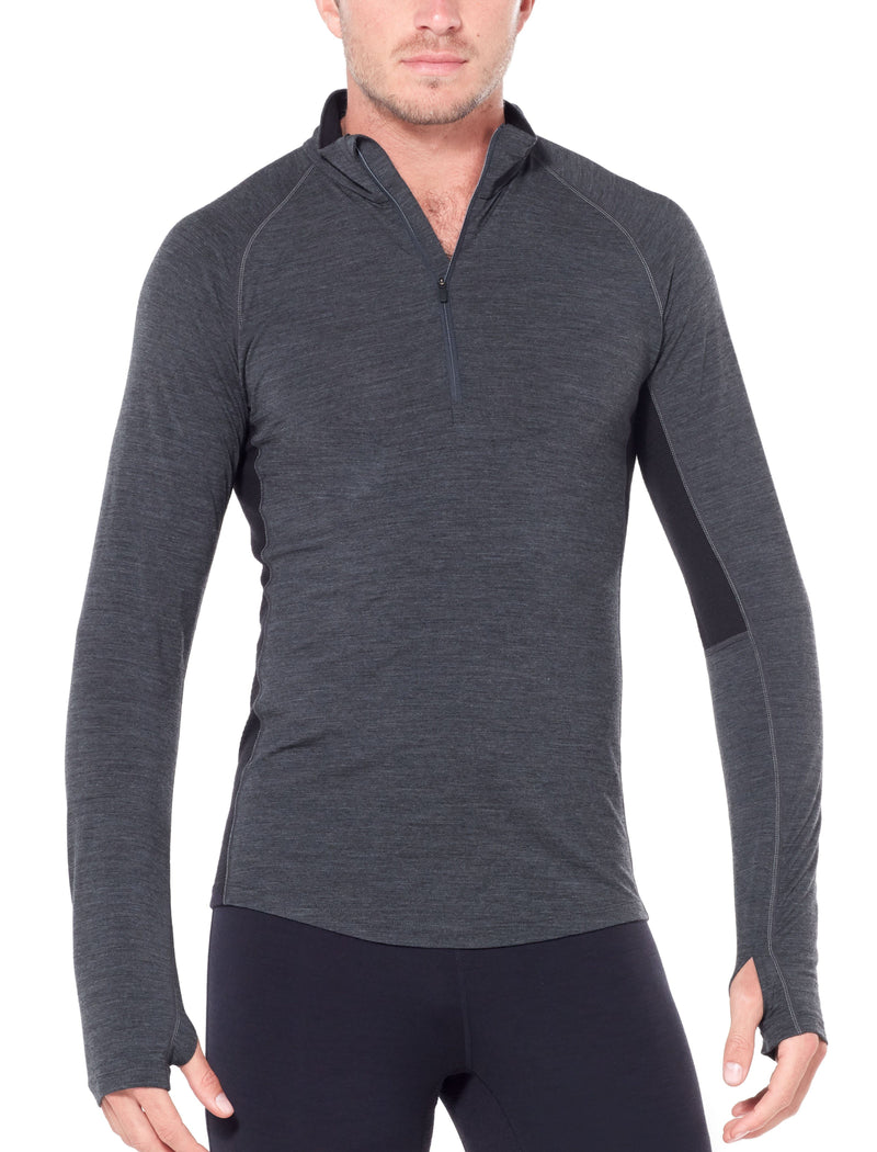 ICEBREAKER MENS BODYFITZONE 200 ZONE LONG SLEEVE 1/2 ZIP