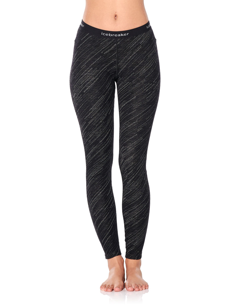 ICEBREAKER LADIES 250 VERTEX LEGGINGS SNOW STORM