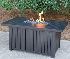 BLUE RHINO RECTANGLE SLAT PROPANE FIREPIT