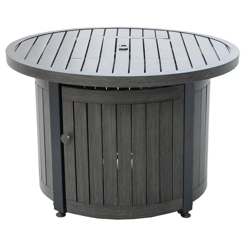 "BLUE RHINO 36"" WEATHERED WOOD FINISH ALUMINUM FIREPIT"