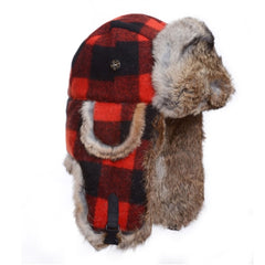 Mad Bomber Original Wool Bomber Red/Black Plaid