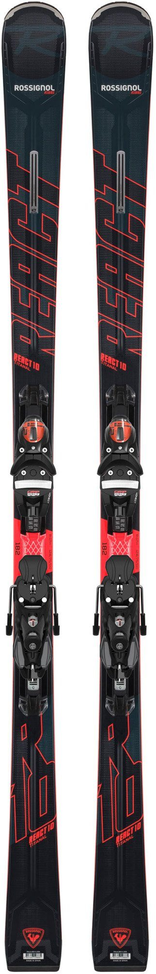 ROSSIGNOL MEN'S REACT 10 TI  SKI with SPX KONECT GW B80 BINDINGS