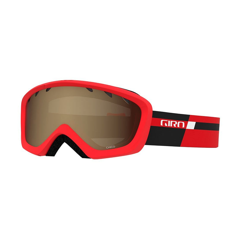 Giro Chico Youth Goggles - Black Red Podium Strap With Amber Rose Lens