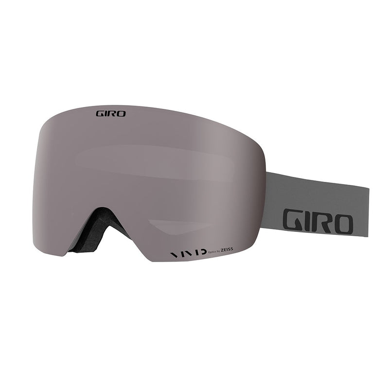 Giro Contour Snow Goggles Grey Wordmark Strap With Vivid Onyx/Vivid Infrared Lenses