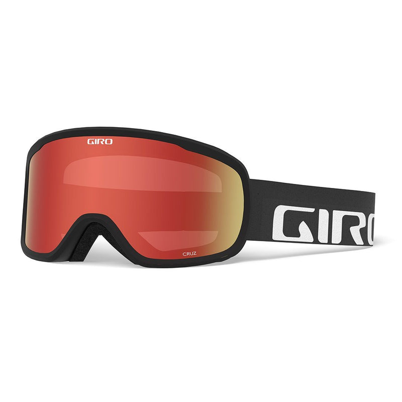 Giro Cruz Goggles - Black Wordmark Strap With Amber Scarlet Lens