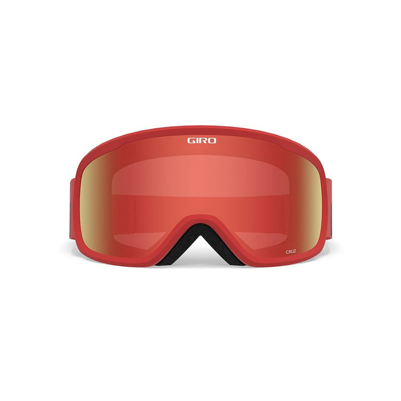 GIRO CRUZ GOGGLES - RED WORDMARK STRAP WITH AMBER SCARLET LENS