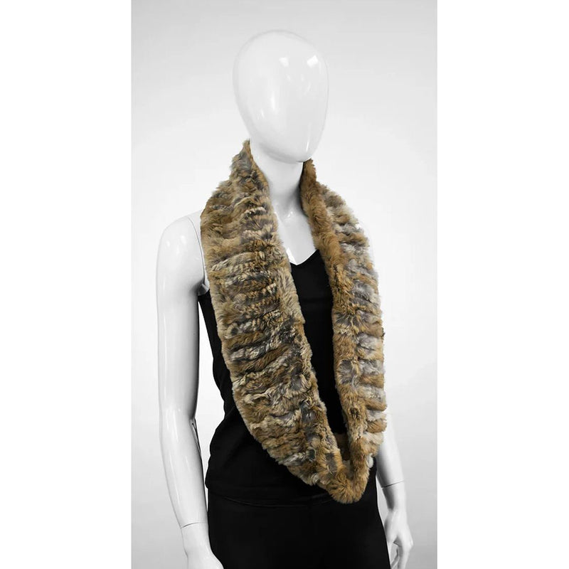 MITCHIE'S LADIES REX INFINITY RABBIT FUR SCARF