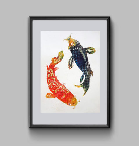 Yin and Yang Koi Fish