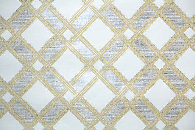 1970s Geometric Mylar Vintage Wallpaper