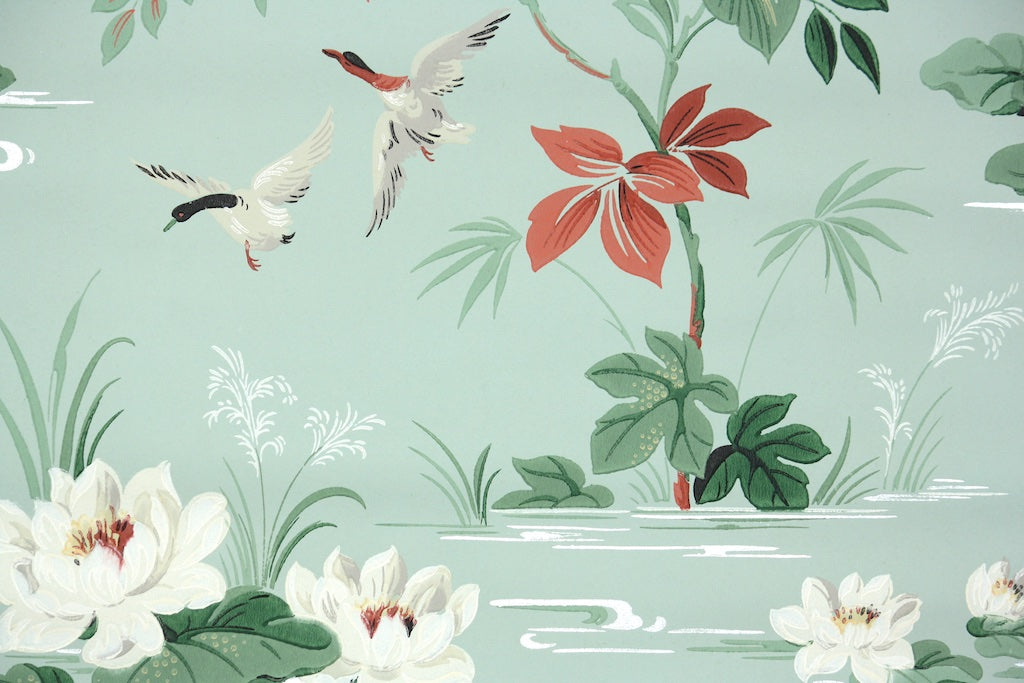 1950s Bathroom Vintage Wallpaper