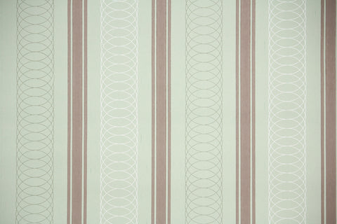 1940s Geometric Stripe Vintage Wallpaper