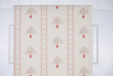 1960s Botanical Stripe Vintage Wallpaper