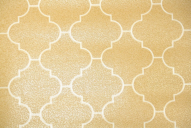 1970s Faux Tile Vintage Wallpaper
