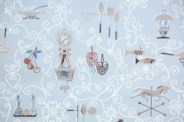 1950s Kitchen Vintage Wallpaper