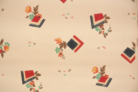 1920s Geometric Vintage Wallpaper