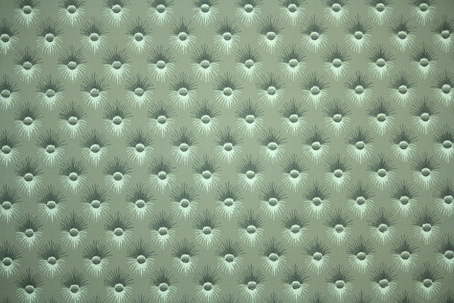 1950s Faux Button Tufted Vintage Wallpaper