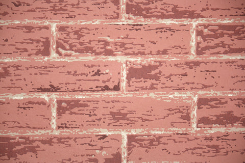 1960s Faux Brick Vintage Wallpaper