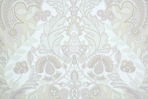 1970s Damask Vintage Wallpaper