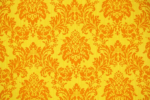1970s Vintage Flock Wallpaper