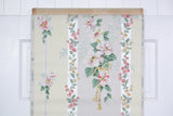 1950s Floral Stripe Vintage Wallpaper