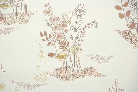 1960s Bathroom Vintage Wallpaper