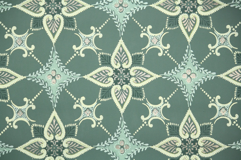1940s Geometric Vintage Wallpaper Hannah S Treasures