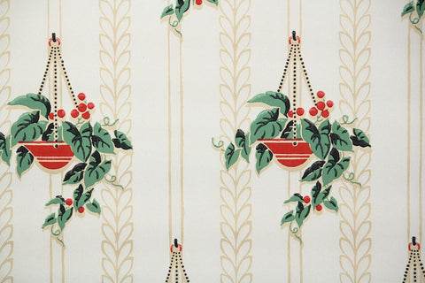 1940s Kitchen Vintage Wallpaper
