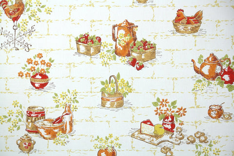 1960s Kitchen Vintage Wallpaper