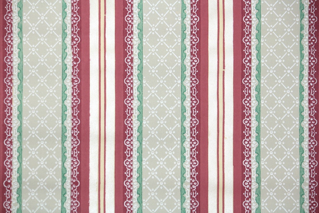 1930s Stripe Vintage Wallpaper