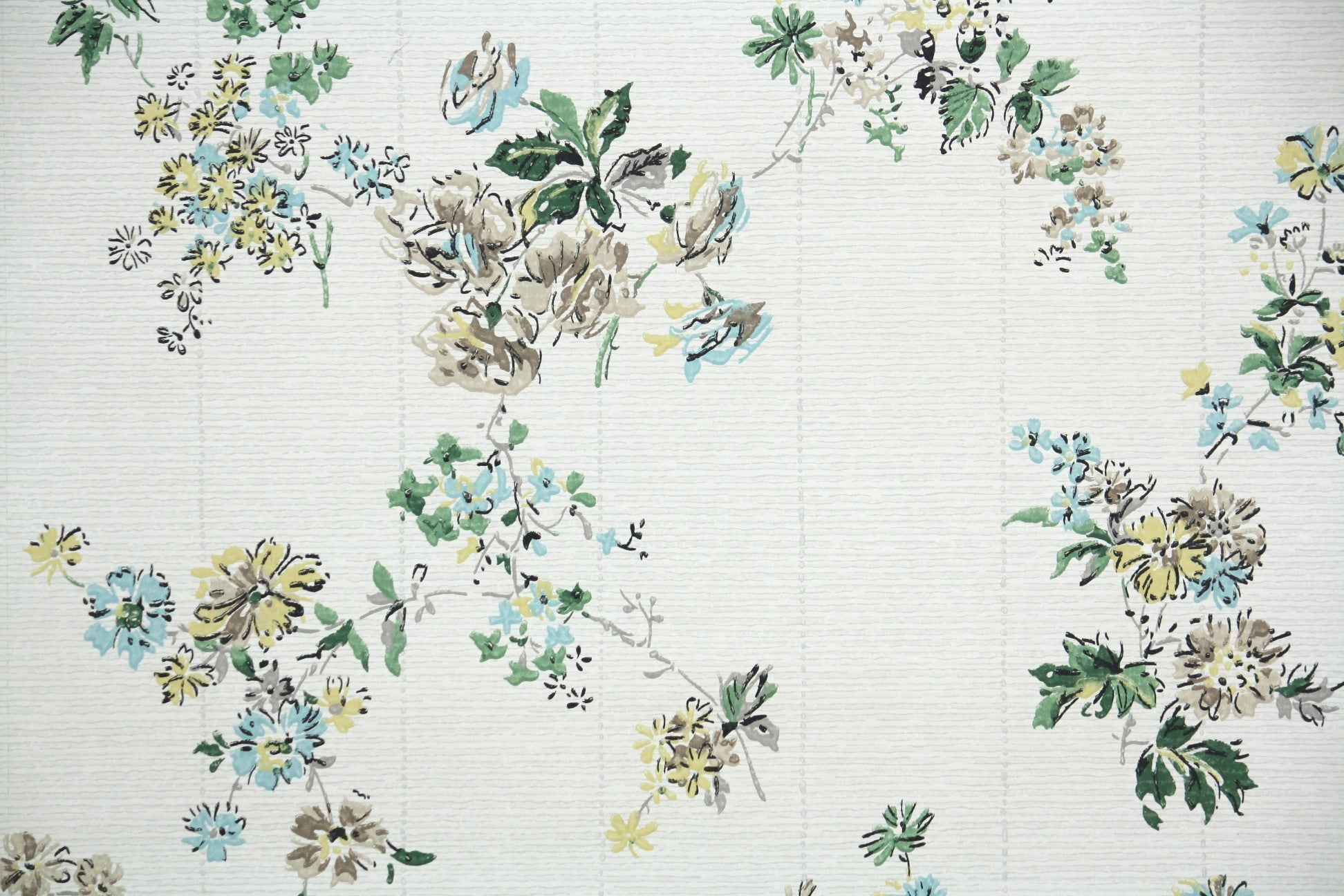 1950s Floral Vintage Wallpaper Hannah S Treasures Vintage Wallpaper