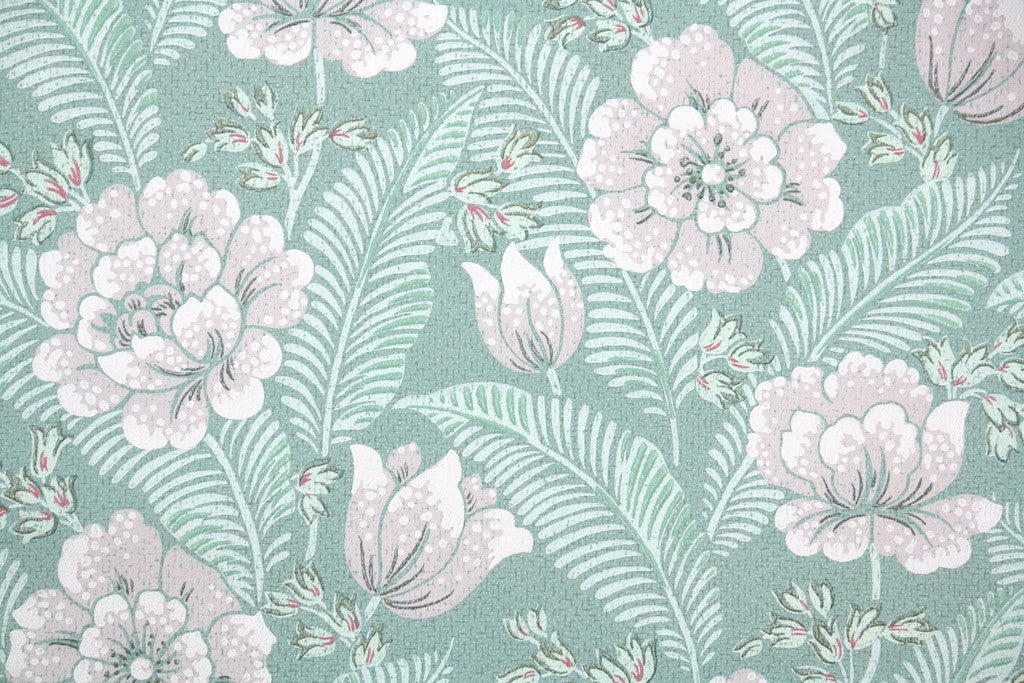 1950s Botanical Vintage Wallpaper Hannah S Treasures
