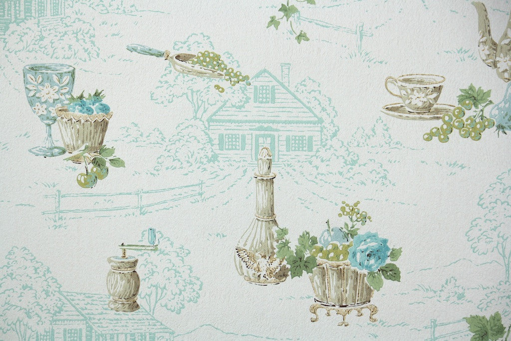 1960s Kitchen Vintage Wallpaper Hannahs Treasures Vintage Wallpaper