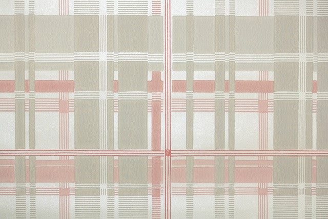 1950s Plaid Vintage Wallpaper