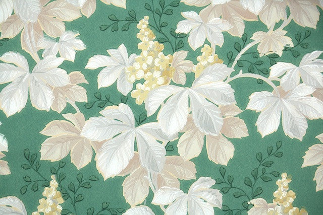 1930s Botanical Vintage Wallpaper