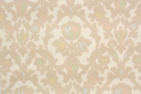 1920s Floral Damask Vintage Wallpaper
