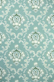 1950s Floral Damask Vintage Wallpaper