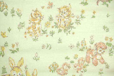 1960s Childrens Vintage Wallpaper